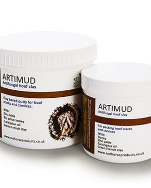 Two jars of artimud side by side.