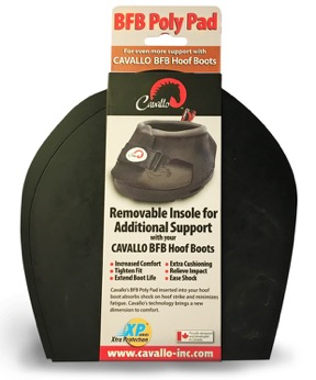 Black set of Cavallo BFB Poly Pads in packaging with white background