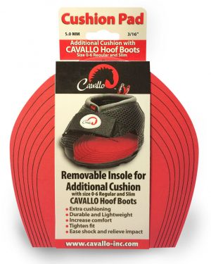Red Cavallo cushion pads in packaging