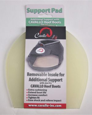 Beige set of cavallo support pads in packaging with white background