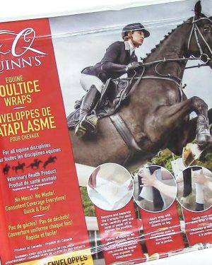 Packaging for Quinns Equine Poultice Wraps